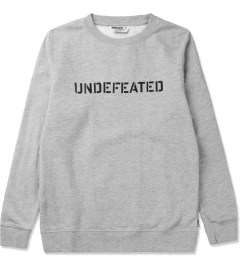 Undefeated Heather Grey Basic Block Sweater Picutre