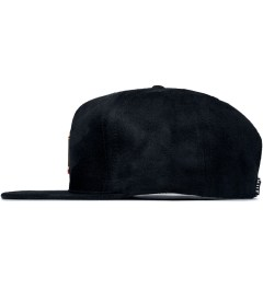HUF Black Hammered Metal H Strapback Cap Model Picutre