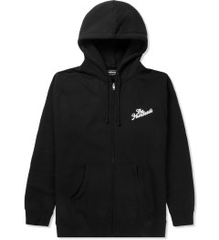 The Hundreds Black Forever Slant Zip Up Hoodie Picutre