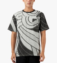Black Scale Black Alvar Block T-Shirt Model Picutre