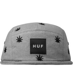 HUF Black Oxford Embroidered Plant Life Volley 5-Panel Cap Picutre