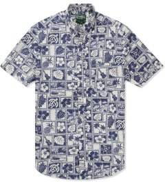 Gitman Bros. Vintage Navy Diamond Head S/S Shirt Picutre