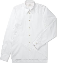 Paul Smith White Contrast Hem L/S Shirt Picutre