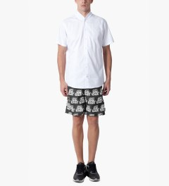 HUF Black Oh Shit Board Shorts Model Picutre