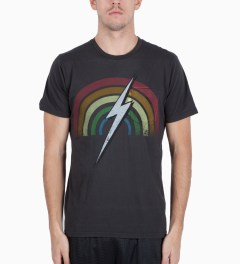 Lightning Bolt Black Rainbow Pocket T-Shirt Model Picutre