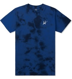 HUF Royal Blue Small Script Crystal Wash T-Shirt Picutre