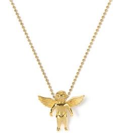 The Sneaker Studio Gold Micro Cherub Piece Necklace Picutre