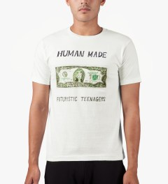 Human Made White Two Dollars Bill T-Shirt Model Picutre