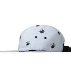 HUF Blue Oxford Embroidered Plant Life Volley 5-Panel Cap Model Picutre