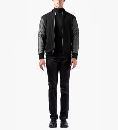 Kunz by Nicklas Kunz Black Zip Sweater Model Picutre
