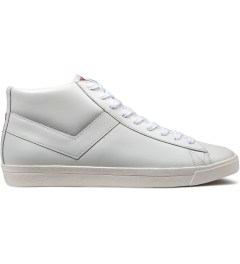 PONY White/White Perf Topstar Hi Leather Sneakers Picutre