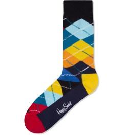 Happy Socks Yellow/Orange Argyle Socks Picutre