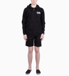 SSUR Black SSUR NYFC Zipped Hoodie Model Picutre