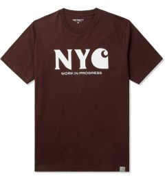 Carhartt WORK IN PROGRESS Bordeaux/White S/S New York T-Shirt Picutre