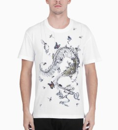McQ by Alexander McQueen Optic White Dropped Shoulder T-Shirt Model Picutre
