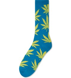 HUF Blue/Yellow Glow in the Dark Plantlife Crew Socks Picutre