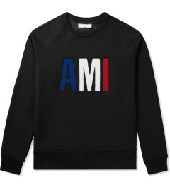 "ami Black ""Friend"" Crewneck Sweatshirt Picutre"