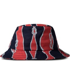 Raised by Wolves Red/Navy Sailor's Knot Gatineau Bucket Hat Picutre