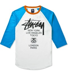 Stussy Turquoise Baseball WT Raglan T-Shirt Picutre