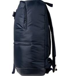 A.P.C. Navy Steven Backpack Model Picutre