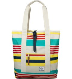 Herschel Supply Co. Malibu Stripe/Bone/Navy Rubber Market Tote Bag Picutre