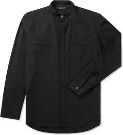 Damir Doma Coal SABLE Stand Up Collar Shirt Picutre