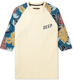10.Deep Natural Bird Paradise 3/4 Sleeve T-Shirt Picutre