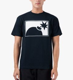 The Hundreds Navy Forever Half-bomb T-Shirt Model Picutre