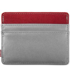 Herschel Supply Co. Silver/Red Charlie 3M Cardholder Model Picutre
