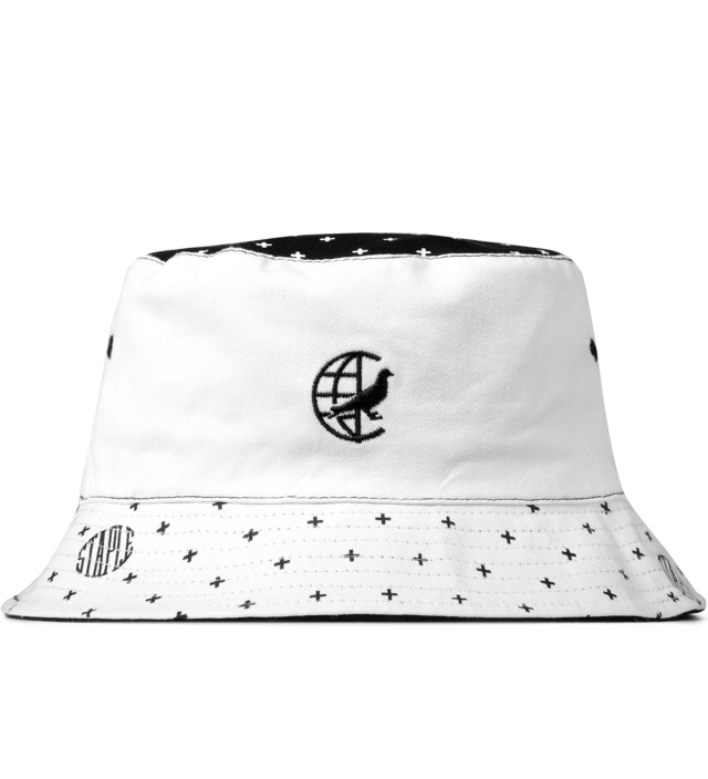 White Paisley Bucket Hat
