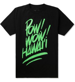 POW! WOW! Green on Black 2014 POW! WOW! Hawaii T-Shirt Picutre