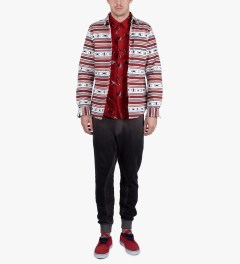 Odd Future Red Sinking Boat S/S Woven Shirt Model Picutre