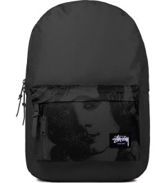 Stussy Dark Grey World Tour Backpack Picutre