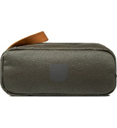 ULTRAOLIVE Grey/Rust Pebble Double Pouch Picutre