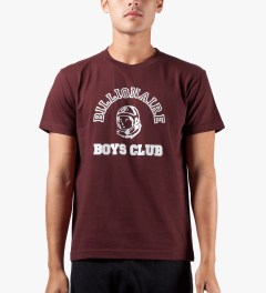 Billionaire Boys Club Burgundy Billionaire College Pop T-Shirt Model Picutre