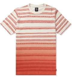 Stussy Orange Fade Tom Tom Crewneck T-Shirt Picutre