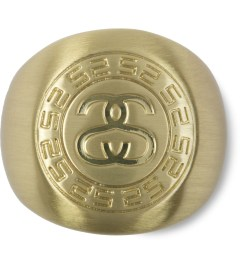 Stussy Gold Greek Ring Picutre