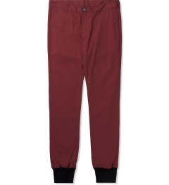 Jiberish Red Crest Chino Jogger Pants Picutre