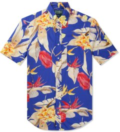 Gitman Bros. Vintage Multicolor Print Birds Of Paradise S/S Shirt Picutre