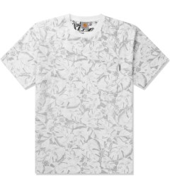 Carhartt WORK IN PROGRESS Deep Night/White Lotus Print S/S Howe T-Shirt Picutre