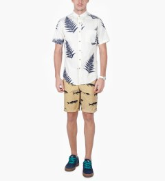 ONLY Khaki Bluefish Chino Shorts Model Picutre