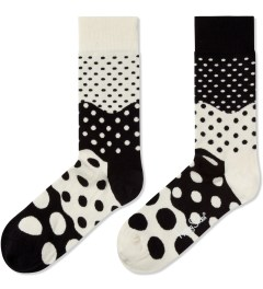 Happy Socks Black/White Divided Dot Socks Picutre