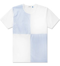 Aloye White/Light Blue Fabrics #3 Color Blocked S/S T-Shirt Picutre