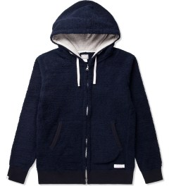 Deluxe Navy Workday Fleece Zip-Up Hoodie Picutre