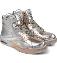 British Knights Silver Chrome Control Hi Sorayama Shoes Model Picutre