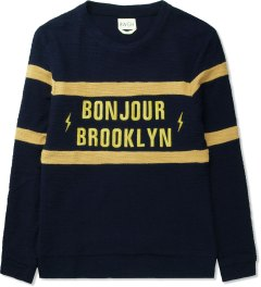 BWGH Navy Bonjour Brooklyn Sweater Picutre