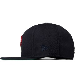 Acapulco Gold Navy Fox 'A' New Era Fitted Cap Model Picutre