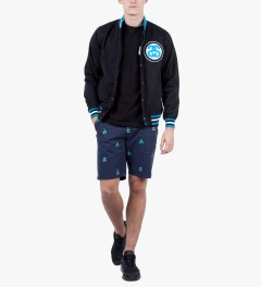 Stussy Black Big Link Jacket Model Picutre
