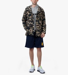 Undefeated Navy Strike Basketball Shorts Model Picutre
