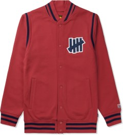 Undefeated Red Strike Varsity Jacket Picutre